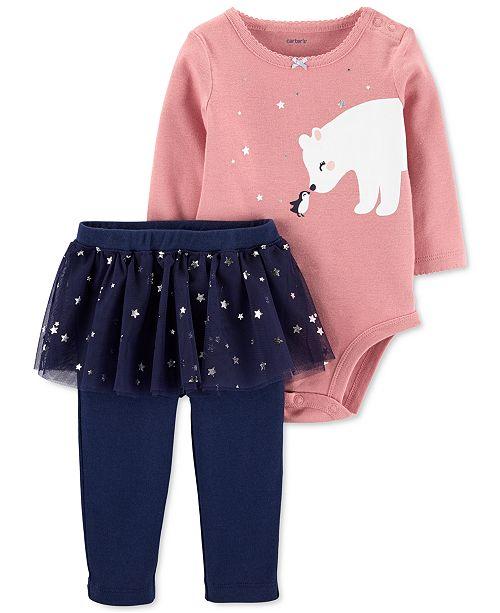 Carter's Baby Girls 2-Pc. Polar Bear Bodysuit & Tutu Pants Set