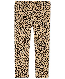 Baby Girls Leopard-Print Fleece Leggings