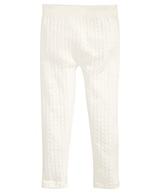 Little Girls Cable Knit Leggings, Created For Macy's