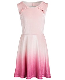 Big Girls Ombré Velour Dress, Created for Macy's