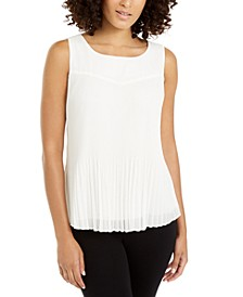 Petite Pleated Sleeveless Top, Created For Macy's