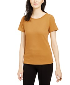 Bar III Textured Scoop-Neck Top, Created For Macy's