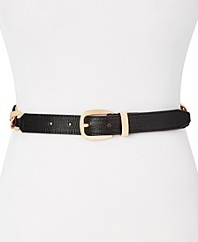 Chain Link Lizard Embossed Belt