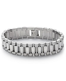 Men's Silver-Tone Watchband Bracelet