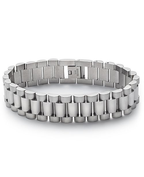 Kenneth Cole Reaction Men's Silver-Tone Watchband Bracelet
