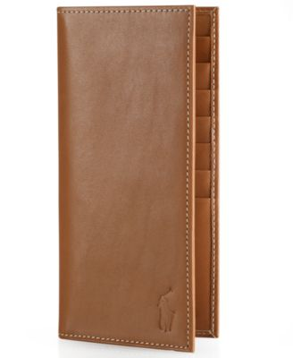 Polo Ralph Lauren Men\u0027s Accessories, Burnished Leather Narrow Wallet