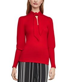 BCBGMAXAZRIA Tie-Neck Sweater