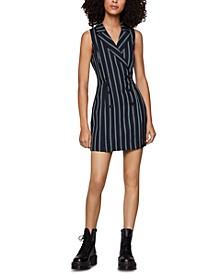 Striped Tuxedo Dress