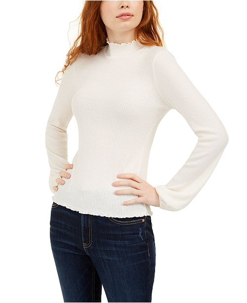 American Rag Juniors' Mock-Neck Top, Created For Macy's