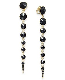 Stone Clip-On Linear Drop Earrings, Created For Macy's