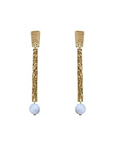 Stephanie Kantis Quake in Blue Chalceondy Stone Earring