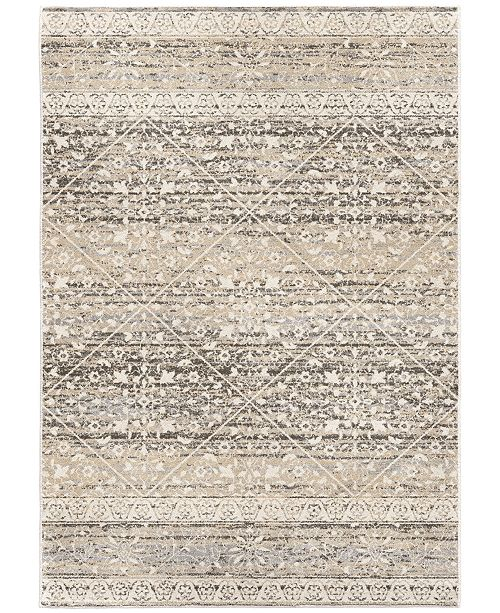 "Palmetto Living ORI423228 Riverstone Henderson Light Gray 5'3"" x 7'6"" Area Rug"