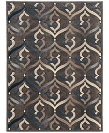 "CLOSEOUT! 3796/1012/BROWN Imperia Brown 7'10"" x 10'6"" Area Rug"