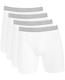 Men's 4-Pk. Stretch Boxer Briefs, Created for Macy's