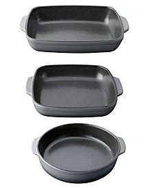 Gem Collection Stoneware 3-Pc. Bakeware Set