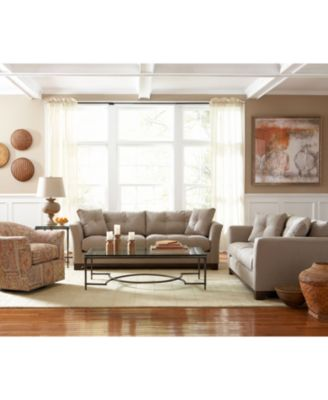 michelle fabric living room chair - furniture - macy's