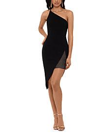 XSCAPE Asymmetrical One-Shoulder Dress