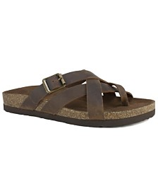 White Mountain Hobo Footbed Sandals
