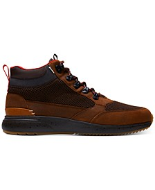 Men's Skully Brown Distressed Leather Waterproof Boots