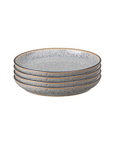 Denby Studio Craft Grey 4 Piece Small Coupe Plate Set