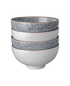 Studio Craft Grey/White 4 Piece  Rice Bowl Set