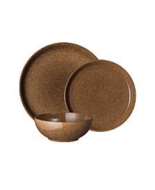 Denby Studio Craft Chestnut 12 Piece Dinnerware Set, Service for 4