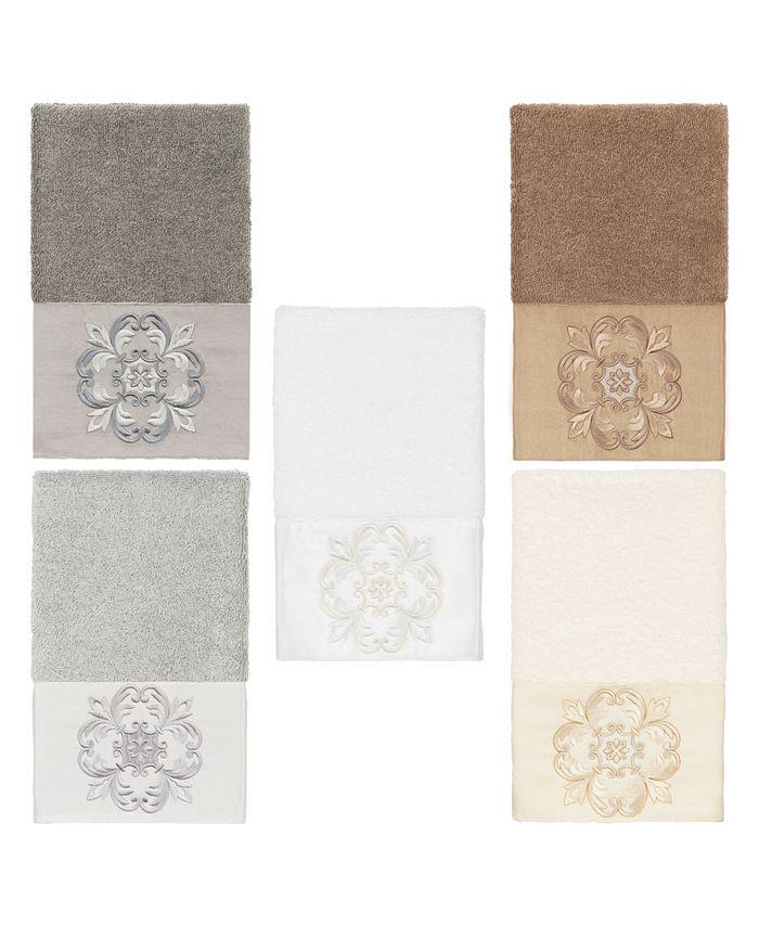 Linum Home - 100% Turkish Cotton Alyssa Embellished Hand Towel
