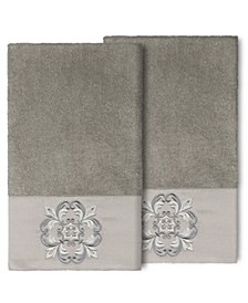 100% Turkish Cotton Alyssa 2-Pc. Embellished Bath Towel Set