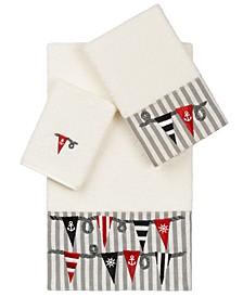100% Turkish Cotton Ethan 3-Pc. Embellished Towel Set