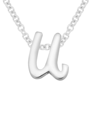 Lower Case Initial Pendant in Sterling Silver