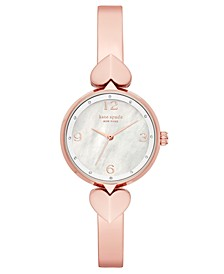 Women's Hollis Rose Gold-Tone Stainless Steel Bangle Bracelet Watch 30mm