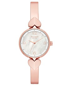 Kate Spade New York Women's Hollis Rose Gold-Tone Stainless Steel Bangle Bracelet Watch 30mm