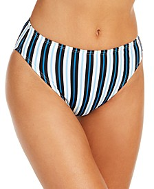Striped High Waist Swim Bottoms