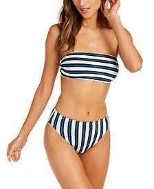 Bandeau Bikini Top & High-Waist Bottoms