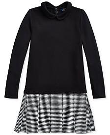 Polo Ralph Lauren Big Girls Houndstooth Interlock Dress