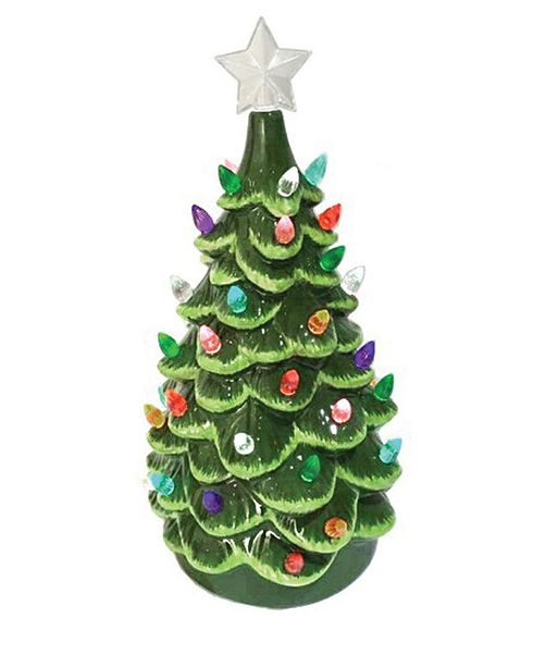 "Santa's Workshop 13.5"" Ceramic Tree"