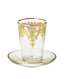 Tumblers with 24k Gold Artwork - Set of 6
