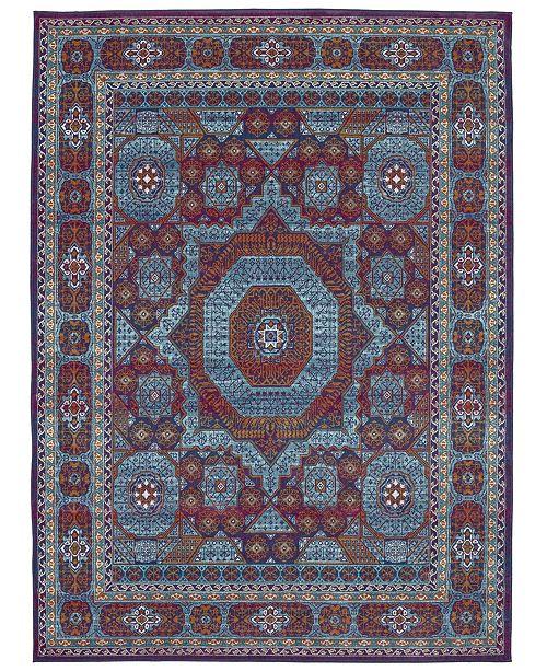 Karastan Meraki Capstone Peacock 5' x 8' Area Rug