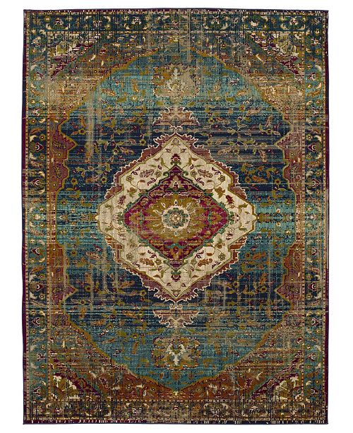 Karastan Meraki Solace Peacock 9'6 x 12'11 Area Rug
