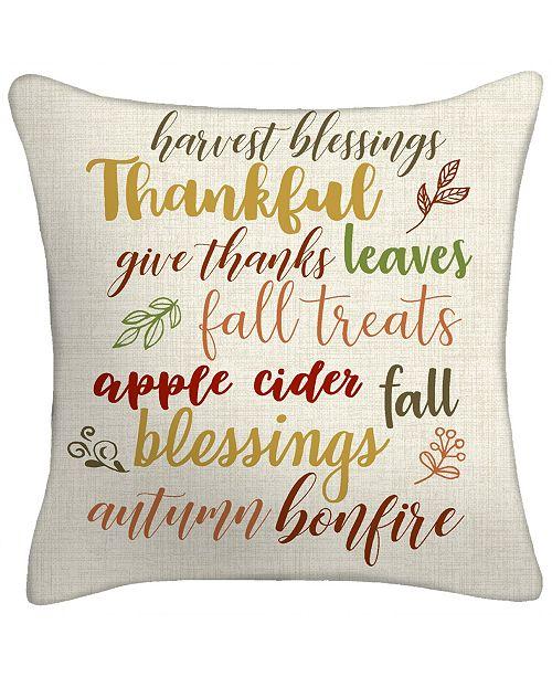 Jordan Manufacturing Thankful Toss Pillow