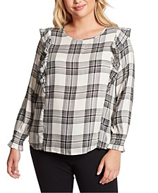Trendy Plus Size Gypsy Ruffled Top