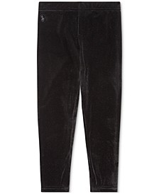 Little Girls Stretch Velvet Legging