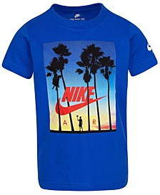 Little Boys Sunset-Print Cotton T-Shirt