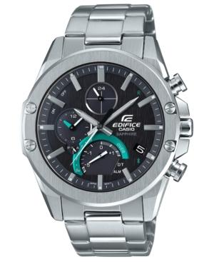 Men's Solar Connected Edifice Stainless Steel Bracelet Watch 45.6mm