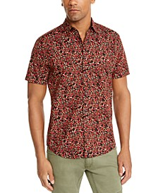 INC Men's Charlie Floral Short Sleeve Shirt, Created For Macy's
