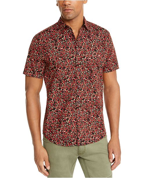 INC International Concepts INC Men's Charlie Floral Short Sleeve Shirt, Created For Macy's