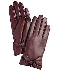 Leather Bow Glove, Created for Macy's