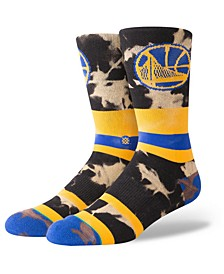 Golden State Warriors Acid Wash Crew Socks