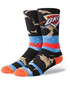 Stance Oklahoma City Thunder Acid Wash Crew Socks