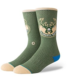 Stance Milwaukee Bucks Arena Jersey Pack Crew Socks